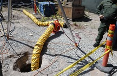 Underground drug tunnel into the US from Mexico discovered beneath bin