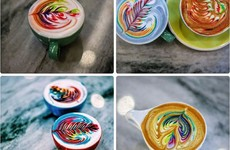 A genius barista has invented rainbow coffee to brighten up your mornings