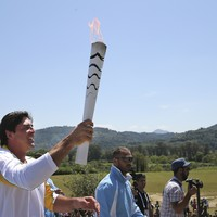 Pictures: The Olympic flame begins its long journey to Rio