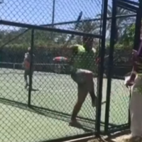 Watch: Irate Iranian tennis player suspended for chasing official off court