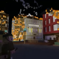A group of fourth class students recreated the burning of Cork city on Minecraft