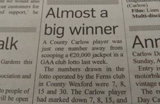 The most Irish news item ever has been spotted in a Carlow paper