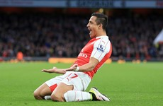 Sanchez continues recent goal rush as Gunners keep Champions League hopes alive