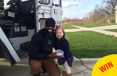 A little girl got to meet her favourite binman and it was absolutely precious