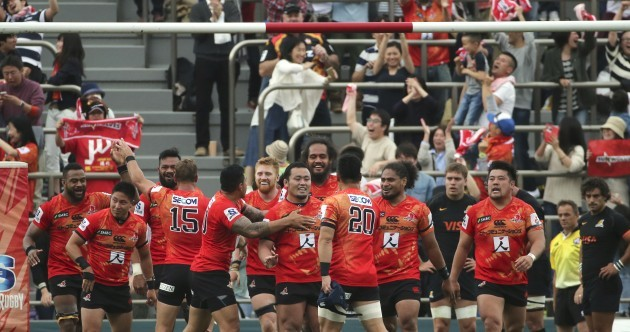 Japanese side Sunwolves shock fellow new boys to earn first Super Rugby win