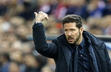 Diego Simeone in hot water after bizarre sending off against Malaga