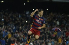 Four for superb Suarez as Barca go back to the summit