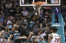 Michael Jordan's Charlotte Hornets win first play-off game in 14 years