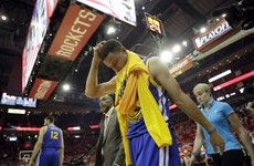 Three and easy: Warriors back to setting records, but Curry injured in win over Houston
