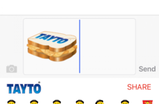 Tayto just launched the dream emoji - a crisp sandwich
