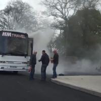 Lucky escape for schoolchildren as bus catches fire in Cork