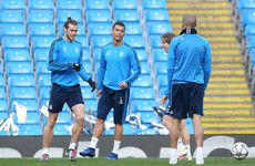 The sight Man City fans didn't want to see ... Cristiano Ronaldo training at the Etihad