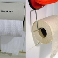 The burning question*: How do you hang a toilet roll?