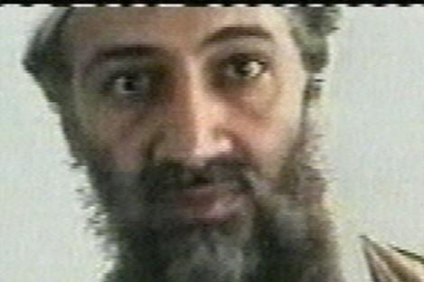 An undated image of Osama bin Laden