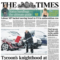 The Times of London admits it should have put Hillsborough on its front page
