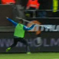 Swedish match abandoned after player throws corner flag into crowd like a javelin