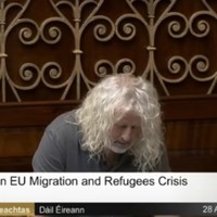Mick Wallace breaks down in tears talking about the refugee crisis