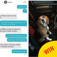 A teen brought her dog to a Tinder date and Facebook was enthralled