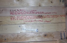 This guy discovered his dad's beautiful hidden love note months after he died