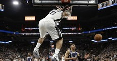 Durant and Westbrook tamed as Spurs demolish Oklahoma City in semi-final opener