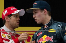 Vettel left fuming by Kvyat collision
