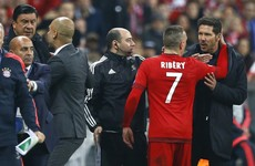 Atletico coach Diego Simeone had a minor meltdown on the touchline tonight