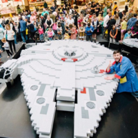The galaxy's biggest Lego Millennium Falcon was built for Star Wars Day