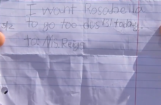 This kid's ridiculous hand-written school note actually worked