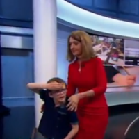 Take a break to watch this BBC presenter stop a live broadcast to bring a young guest to the toilet