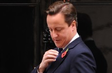 "Cameron blasts ""absurd"" FIFA for poppy ban"