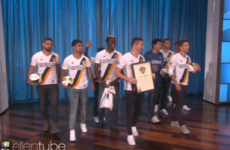 Robbie Keane and the LA Galaxy players dropped by the Ellen Show last night