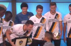 Robbie Keane surprised an adorable little kid on the Ellen Show