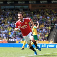 Mata strike keeps United in hunt for Champions League spot, sinks Canaries closer to relegation