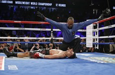 Khan suffers brutal KO as Alvarez retains middleweight title