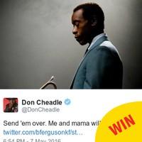 Don Cheadle offered to babysit for this Dublin mam so she can see his new film