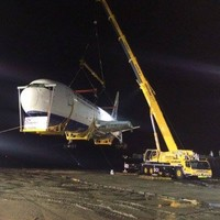 The Boeing has landed: Plane reaches glamping village after mammoth effort