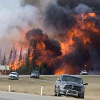 Whole neighbourhoods burned to the ground in Canadian wildfire