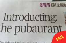 An Irish Times review used the word 'pubaurant' and people weren't having it