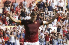 Francesco Totti marked his 600th Serie A appearance with this sublime assist