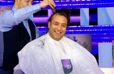 Watch: Former Spurs striker has head shaved live on air for doubting Leicester