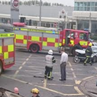 Two-car crash on Luas red line causes rush hour delays in Dublin