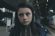 Powerful video shows child fleeing war-torn England