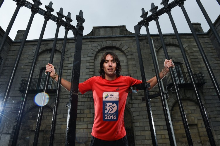 Mick Clohisey is one of 15 marathon runners hoping to be on that plane.