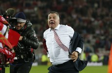 Big Sam Allardyce threatened to tear off his jacket in safety celebration