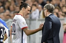 PSG will not risk Ibrahimovic ahead of Ireland game, says Blanc