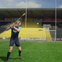 Watch: Henry Shefflin takes on the crossbar challenge - with a very GAA twist