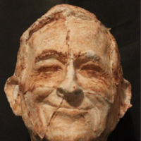 An artist has made Enda Kenny's head from rolls of toilet paper