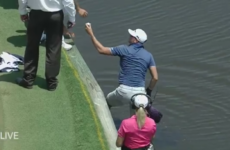 Dustin Johnson's brother jumps into water hazard to save two-shot penalty