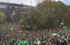 All of Bremen have turned out to support their side for today's massive Bundesliga game
