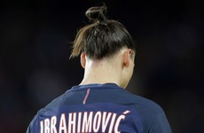 PSG stopped their game in the 10th minute to honour Zlatan tonight